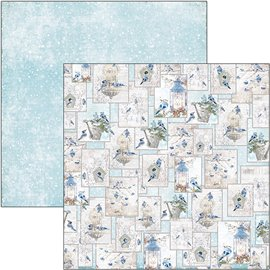 Papier scrapbooking réversible Ciao Bella hello winter 30x30