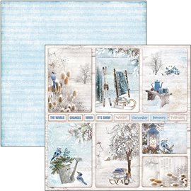 Papier scrapbooking réversible Ciao Bella winter cards 30x30