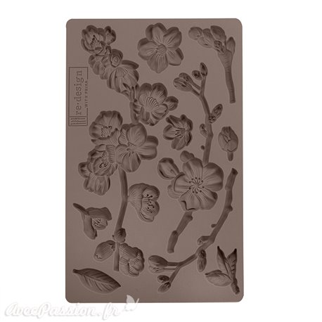 Moule Prima ReDesign en silicone flexible Cherry Blossoms