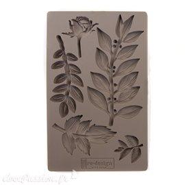 Moule Prima ReDesign en silicone flexible Leafy Blossoms feuilles