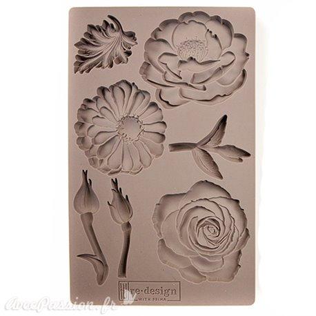 Moule Prima ReDesign en silicone flexible In The Garden fleur