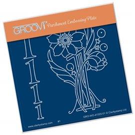 Groovi gabarit traçage parchemin chiffre 1 barbara's number flower