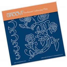 Groovi gabarit traçage parchemin chiffre 3 barbara's number flower