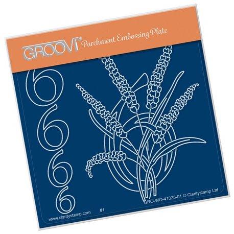 Groovi gabarit traçage parchemin chiffre 6 barbara's number flower