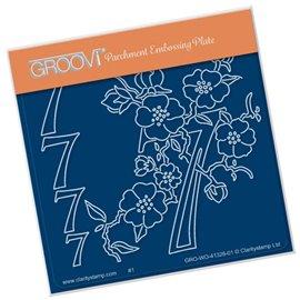 Groovi gabarit traçage parchemin chiffre 7 barbara's number flower