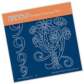 Groovi gabarit traçage parchemin chiffre 9 barbara's number flower