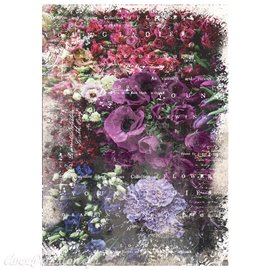 Papier de murier mulberry imprimé Redesign 50x70cm Giselle