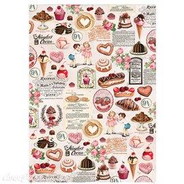 Papier de murier mulberry imprimé Redesign 50x70cm Super Decadent