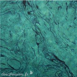 Papier népalais lokta turquoise marbré bleu