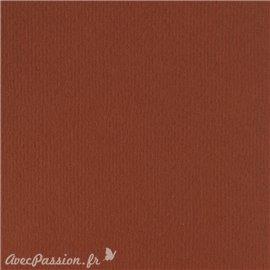 Papier scrapbooking uni Papicolor 30x30cm Brun Cacao
