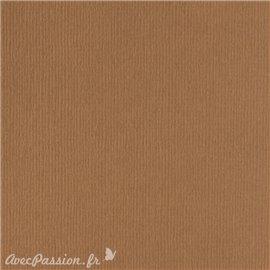 Papier scrapbooking uni Papicolor 30x30cm Brun De Noix