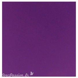 Papier scrapbooking uni Papicolor 30x30cm Violet