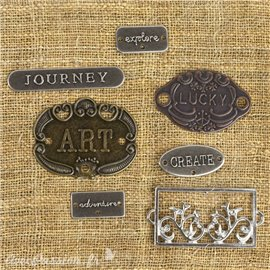 Embellissements métal mechanicals Plate & Label