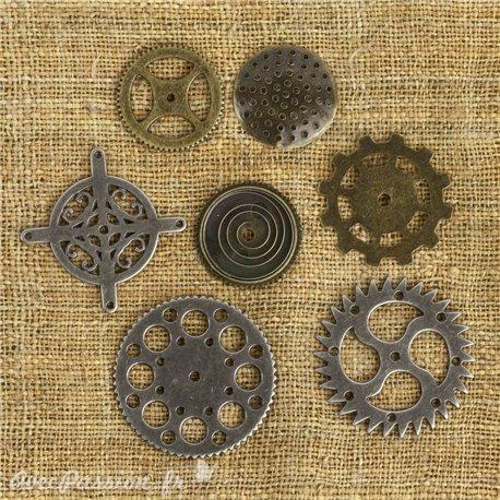 Embellissements métal mechanicals Gears