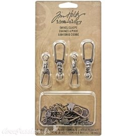 Embellissements métal Tim Holtz Swivel Clasps 12pcs