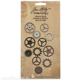 Embellissements métal Tim Holtz Sprocket Gears 12pcs