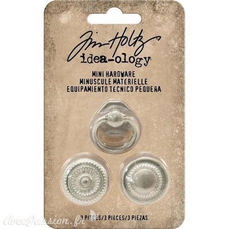 Embellissements métal Tim Holtz Mini Hardware 3pcs