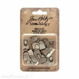 Embellissements métal Tim Holtz Index Clips 24pcs
