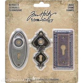 Embellissements métal Tim Holtz Large Keyholes 3pcs