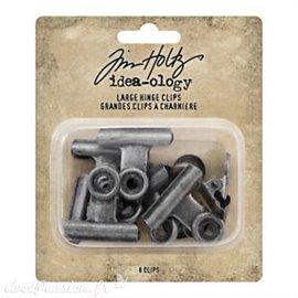 Embellissements métal Tim Holtz Hinge Clips Large 8pcs
