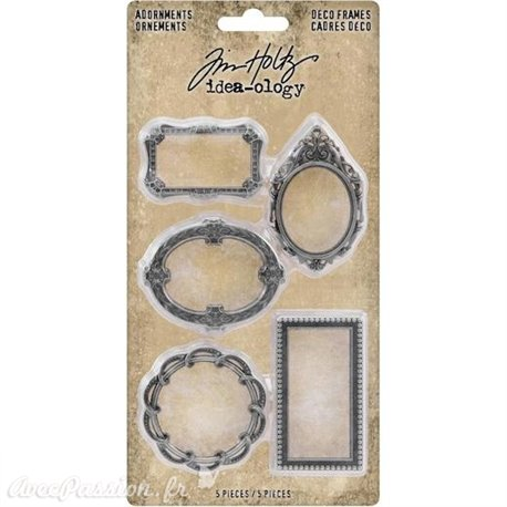 Embellissements métal Tim Holtz Adornments Deco Frames 5pcs