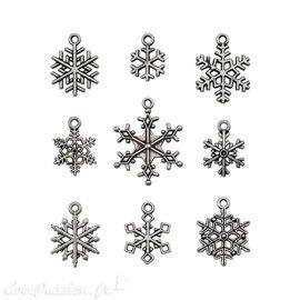 Embellissements métal Tim Holtz Adornments Snowflakes 9pcs