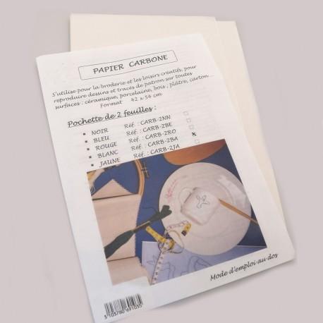 Papier carbone jaune 2 feuilles 42x54cm