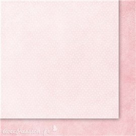 Papier scrapbooking  2 face faux uni rose