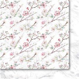Papier scrapbooking  1 décor 1 faux uni Pommier décor