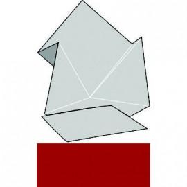 carte pliée ivoire rouge