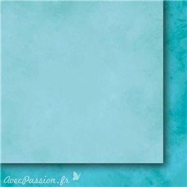 Papier scrapbooking   faux uni nuageux turquoise Arc en ciel II