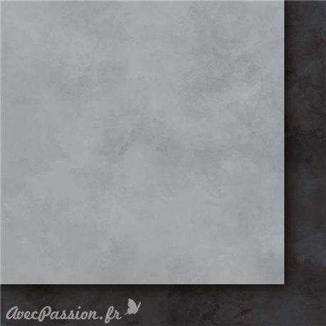 Papier scrapbooking   faux uni nuageux saumon Arc en ciel II
