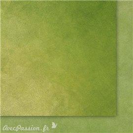 Papier scrapbooking   faux uni nuageux vert
