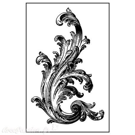 Tampon caoutchouc Stamperia Victorian Volute