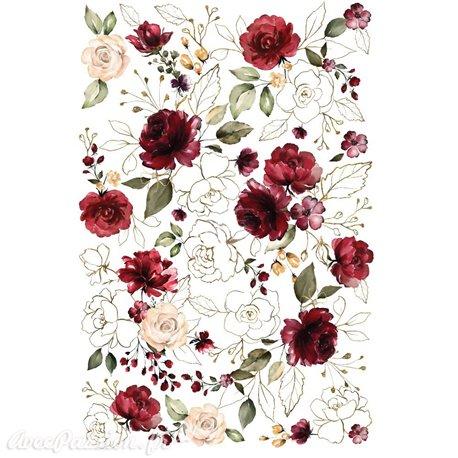Transfert pelliculable Redesign Prima marketing décor Midnight Floral
