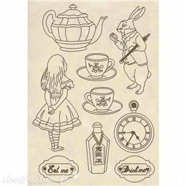 Chipboard en bois silhouettes entaillées Alice wooden shape