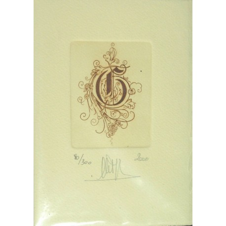 Gravure Caroline Delépine taille douce lettre G