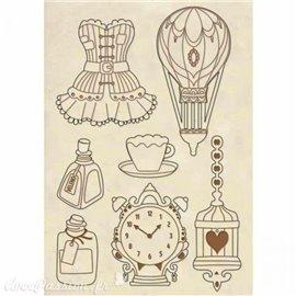 Chipboard en bois silhouettes entaillées corsets
