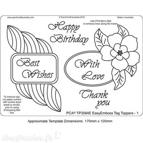 Template PCA gabarit traçage motifs Tag Toppers 1
