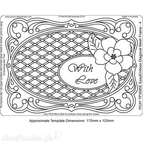 Template PCA gabarit traçage motifs Diagonal Mesh Frame 4