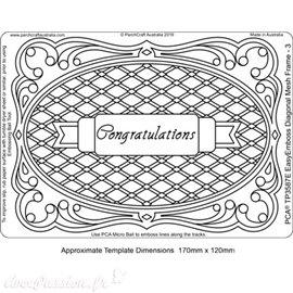 Template PCA gabarit traçage motifs Diagonal Mesh Frame 3