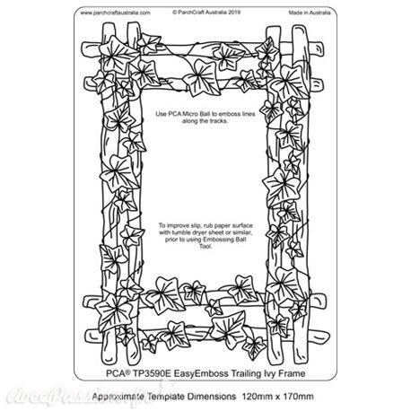 Template PCA gabarit traçage motifs Trailing Ivy Frame