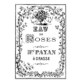 Tampon clear stamps Stamperia eau de roses 6x9cm