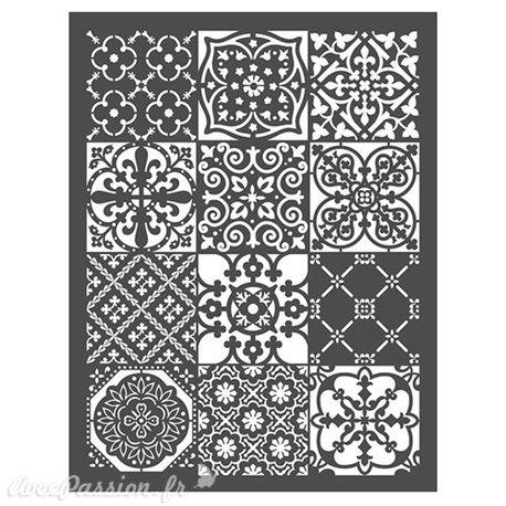 Pochoir décoratif géant Redesign Patchwork 51x66cm