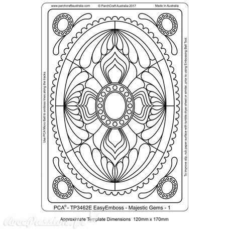 Template PCA gabarit traçage motifs ovale majestique