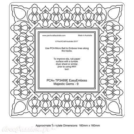 Template PCA gabarit traçage motifs cadre majestique