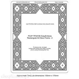 Template PCA gabarit traçage motifs cadre art déco