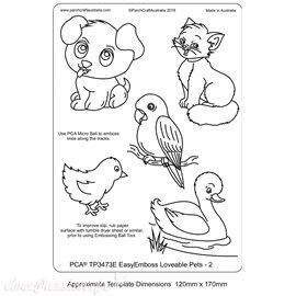 Template PCA gabarit traçage motifs animal de compagnie