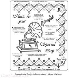 Template PCA gabarit traçage & piquage gramophone & bordure