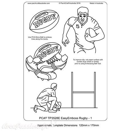 Template PCA gabarit traçage motifs rugby